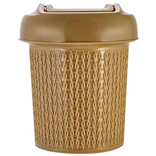 Фото - Контейнер для мусора с педалью Ajur 6 л кофейный svip корзина универсальная ajur 7 л венге