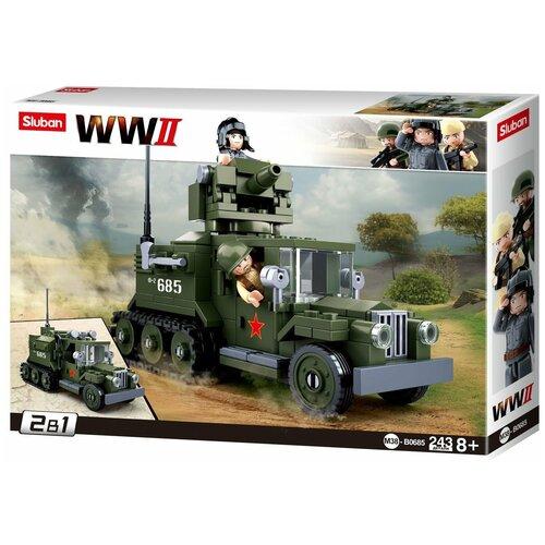 Конструктор SLUBAN WW2 M38-B0685 Грузовик конструктор sluban ww2 m38 b0682 газ 67