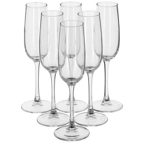 Фото - Luminarc Набор фужеров для шампанского Allegresse 6 шт 175 мл J8162 luminarc набор фужеров для шампанского signature 3 шт 170 мл j9756