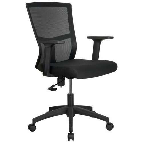 Компьютерное кресло Рива 923 офисное, обивка: текстиль, цвет: черный компьютерное кресло рива 8074 офисное обивка текстиль искусственная кожа цвет оранжевый