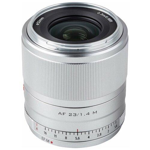 Фото - Объектив Viltrox AF 23mm f/1.4 EF-M серебристый объектив viltrox af 23mm f 1 4 ef m серебристый