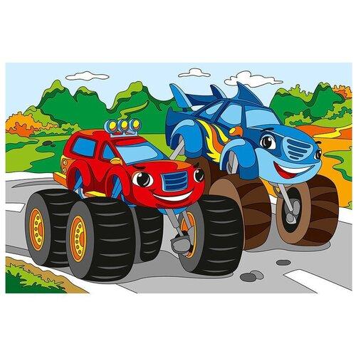 Рыжий кот картина по номерам Крутые машины 20 х 30 см (Х-0390)