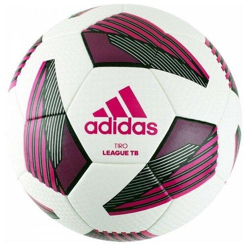 мяч футбольный adidas conext19 tcpt dn8636 белый желтый оранжевый размер 5 Мяч футбольный Adidas Tiro Lge Tb арт.FS0375 р.5