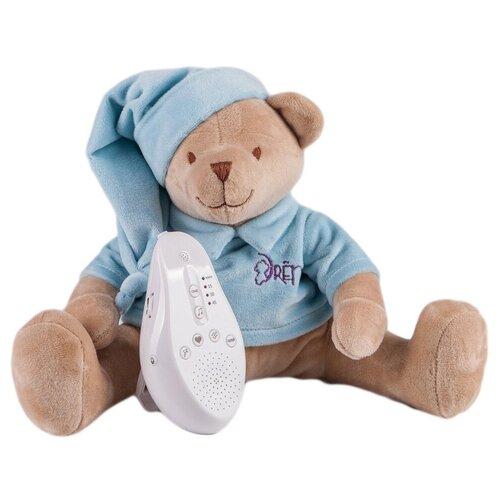 Фото - Мягкая игрушка Drёma BabyDou Мишка голубой с белым и розовым шумом 28 см комфортеры drema babydou медведь с белым и розовым шумом 20 см