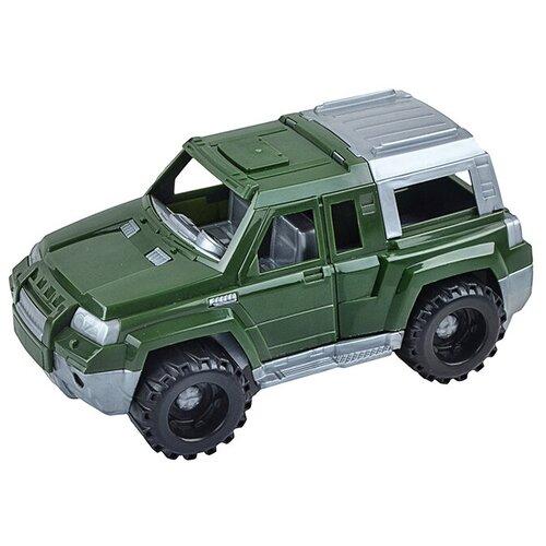 Внедорожник Нордпласт джип Шторм (260), 10 см, зеленый/серый