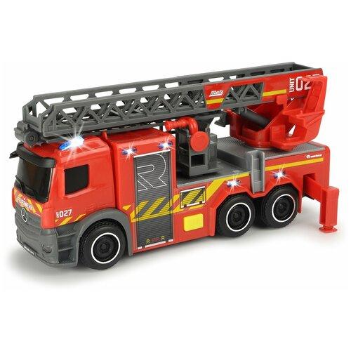 Фото - Пожарный автомобиль Dickie Toys Mercedes (3714011038), 23 см, красный/серый гидроцикл dickie toys пожарный сэм джуно с фигуркой и аксессуарами 9251662 красный желтый