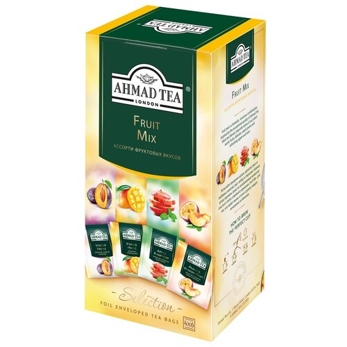чай черный ahmad tea таинственные сумерки ассорти в пакетиках 30 шт Чай Ahmad Tea Fruit Mix ассорти в пакетиках, 24 шт.