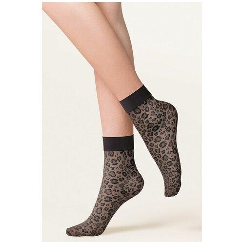 Gabriella Леопардовые носочки Caty с мягкой резинкой, черный, S-M-L