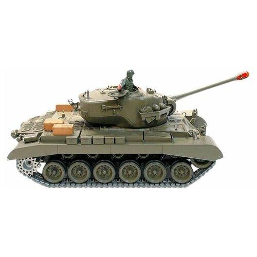 Танк Heng Long M26 Pershing Snow Leopard (3838-1) 1:16 53.5 см зеленый