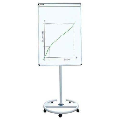 Доска-флипчарт магнитно-маркерная BRAUBERG на колесах 231703 (100х70 см) белый/хром