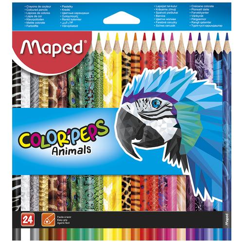 Фото - Maped Цветные карандаши Color Peps Animals 24 цвета (832224) карандаши набор 18цв аквар maped color peps aqua кисть