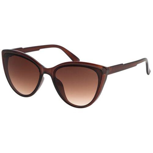 Солнцезащитные очки женские/Очки солнцезащитные женские/Солнечные очки женские/Очки солнечные женские/21kdglan905332c2vr коричневый/Vittorio Richi/Кошачий глаз/модные