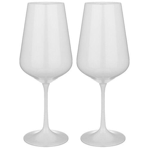 Набор бокалов из 2 штук total white 450 мл Bohemia Crystal (674-750)