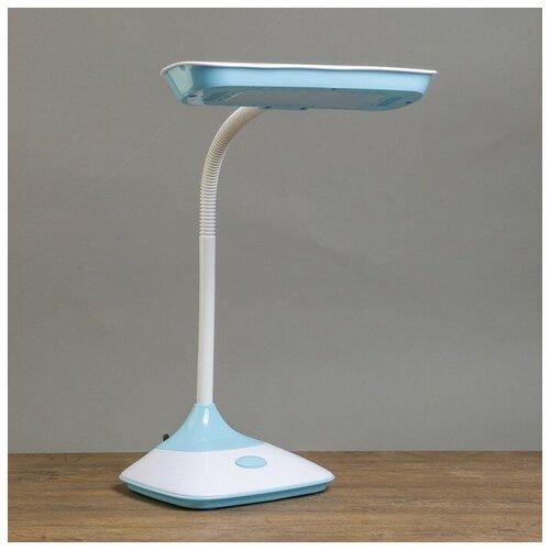 Лампа детская светодиодная RISALUX Ученическая 3726729, 5 Вт, цвет арматуры: синий, цвет плафона/абажура: синий
