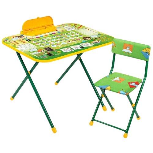 Купить Комплект Nika Первоклашка (NK-75/2) 75.5x54.5 см зеленый/желтый, Парты и столы