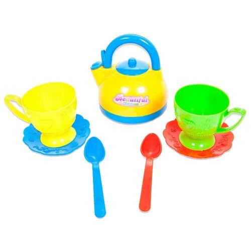 Фото - Набор посуды ABtoys Помогаю маме PT-00431 (PT-00203)/WK-B0342 разноцветный набор продуктов с посудой abtoys помогаю маме pt 00395 разноцветный