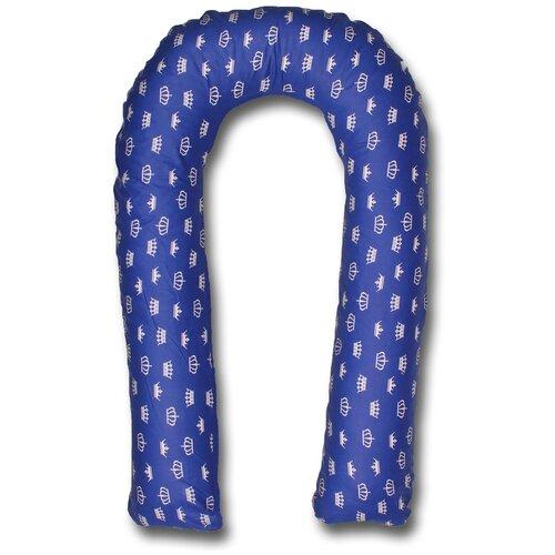 Фото - Подушка Body Pillow для беременных U холлофайбер, с наволочкой из хлопка синий в белых коронах подушка body pillow для беременных u холлофайбер с наволочкой из хлопка коричневый с бежевыми вензелями