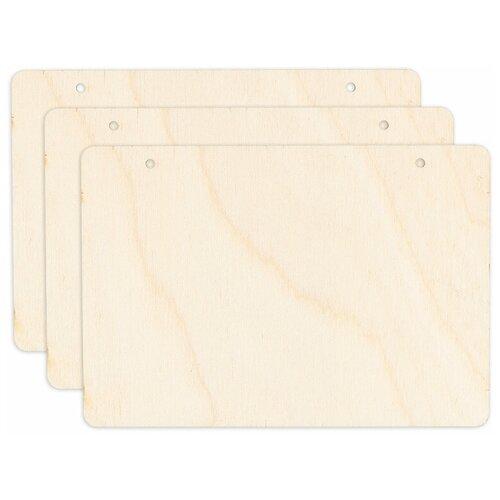 Купить Заготовки для декорирования Mr. Carving Таблички прямоугольные , 12, 5x8, 3 см, 3 штуки, арт. ВД-725, Декоративные элементы и материалы