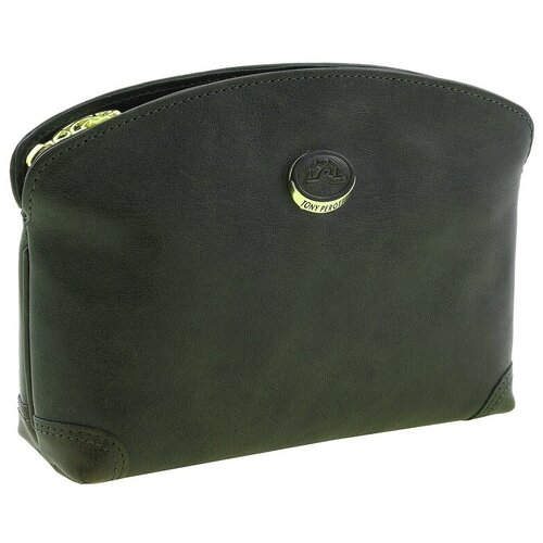 Косметичка Tony Perotti Topkapi gioil, женская, натуральная кожа, зелёный