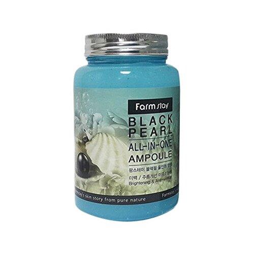 Farmstay All-In-One Black Pearl Ampoule Сыворотка для лица с черным жемчугом, 250 мл недорого