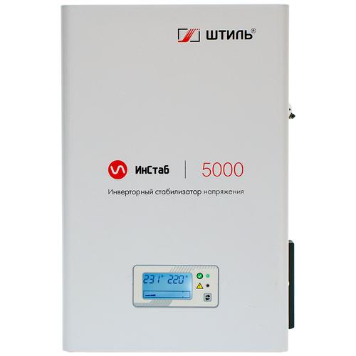 Стабилизатор напряжения однофазный Штиль IS5000 2020 (4.5 кВт) серый стабилизаторы напряжения штиль штиль is5000