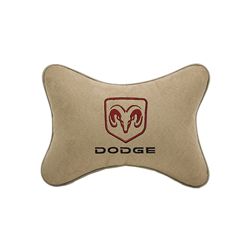 Подушка на подголовник алькантара Beige DODGE