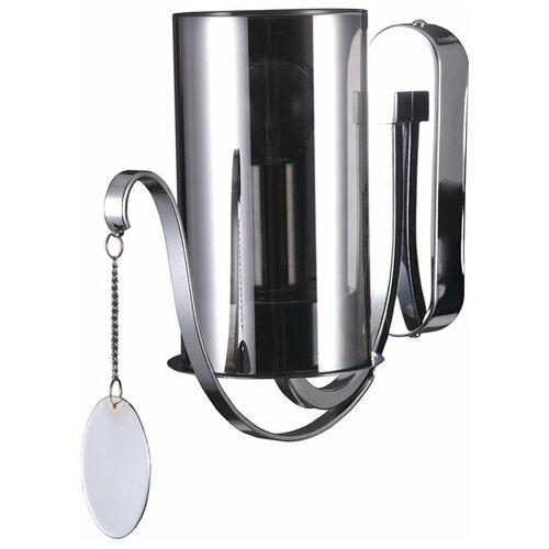 Настенный светильник Люмьен Холл Илис 3303/1W-CR-SNS-SY, E14, 60 Вт, кол-во ламп: 1 шт., цвет арматуры: хромовый, цвет плафона: серый