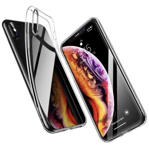 Прозрачный силиконовый чехол (накладка) Apple iPhone X и iPhone XS Ультратонкий силикон Premium силикон / Тонкий чехол для смартфона Эпл Айфон Икс (Айфон 10) и Айфон Икс С (Прозрачный)