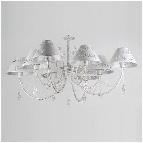 Люстра Rivoli Femmi 2032-208, E14, 320 Вт, кол-во ламп: 8 шт., цвет арматуры: белый, цвет плафона: белый