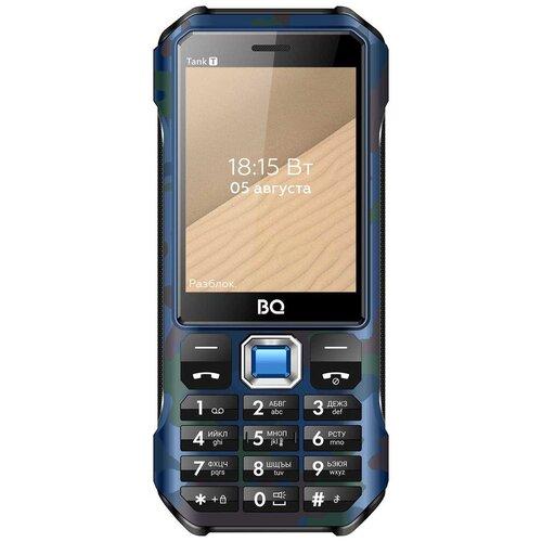 Телефон BQ 2824 Tank T, синий камуфляж телефон bq 2824 tank t черный