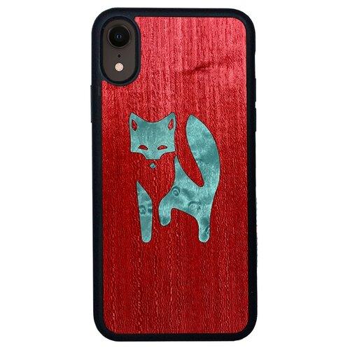 Чехол Timber&Cases для Apple iPhone XR TPU WILD collection - Хитрость леса/Лиса (Красный Кото - Клен птичий глаз)