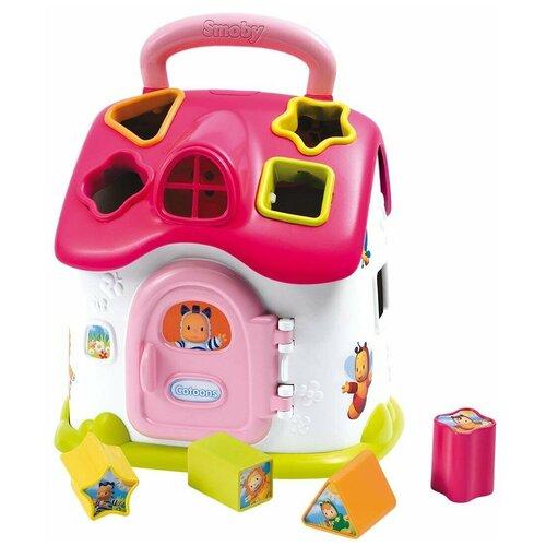 Развивающая игрушка Домик Cotoons Smoby розовый 110402 мобиль smoby cotoons 110116