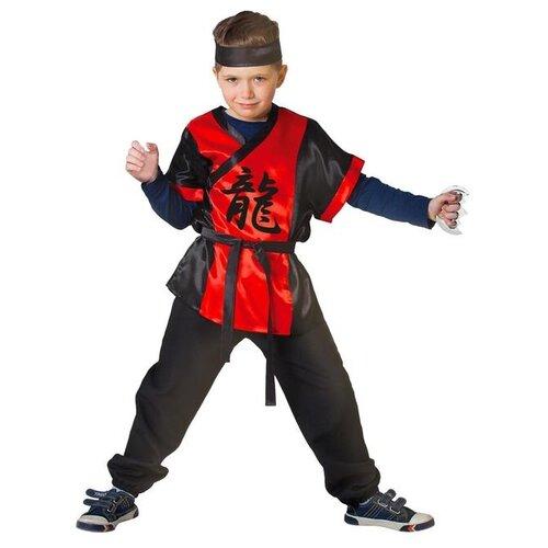 Купить Карнавальный костюм Страна Карнавалия Ниндзя: красный дракон с оружием, размер 28, рост 98-104 см, Карнавальные костюмы