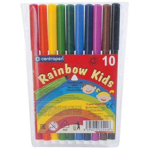 Купить Centropen Набор фломастеров Rainbow Kids (7550/10), 10 шт., Фломастеры и маркеры