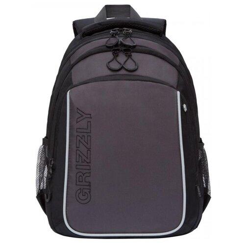 Купить Grizzly Рюкзак (RB-152-1), черный/серый, Рюкзаки, ранцы