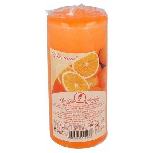 Свеча Омский Свечной Пеньковая ароматизированная 5 x 11 см апельсин (079425) оранжевый