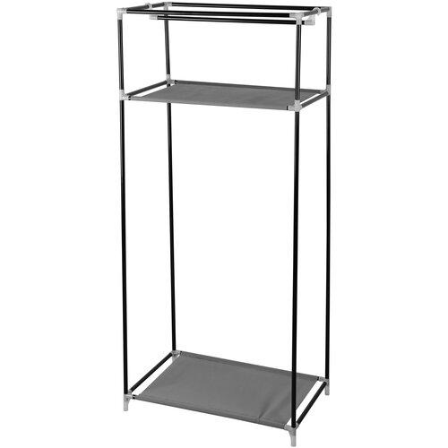 Универсальный тканевый шкаф для хранения вещей DEKO DKCL04 GREY, размер L, 150х70х45 см, серый кресло deko 66х66х80 см