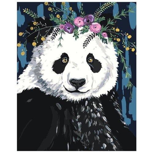 Купить Картина по номерам «Милая панда», 40x50 см, Живопись по Номерам, Живопись по номерам, Картины по номерам и контурам