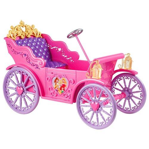 Фото - Mattel Disney Princess автомобиль принцессы Диснея (X9366) розовый легковой автомобиль mattel