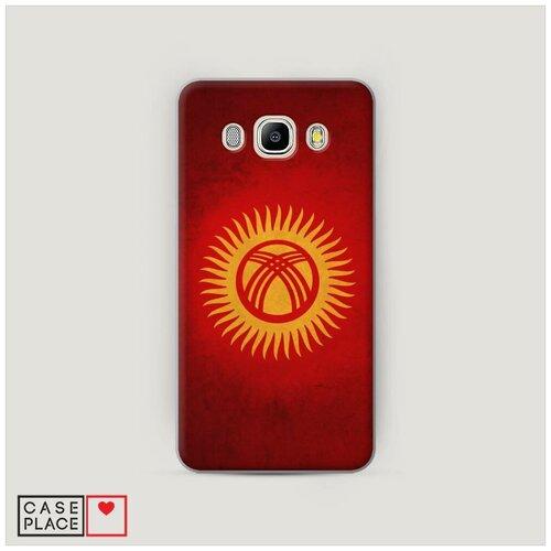 Чехол Пластиковый Samsung Galaxy J7 2016 Флаг Киргизии