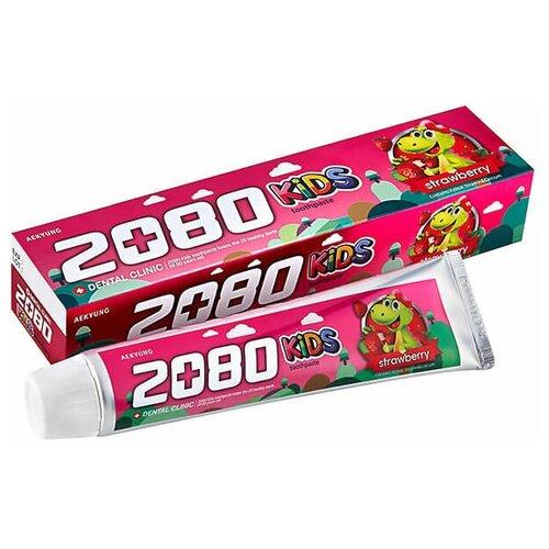 Фото - Kerasys Зубная паста DC 2080 детская Клубника, 80г детская зубная паста juicy 35мл киви клубника