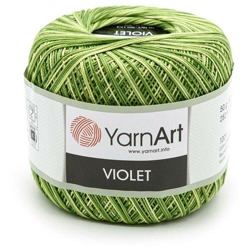 Пряжа YarnArt 'Violet Melange' 50гр 282м (100% мерсеризированный хлопок) (0188 меланж) 6 шт