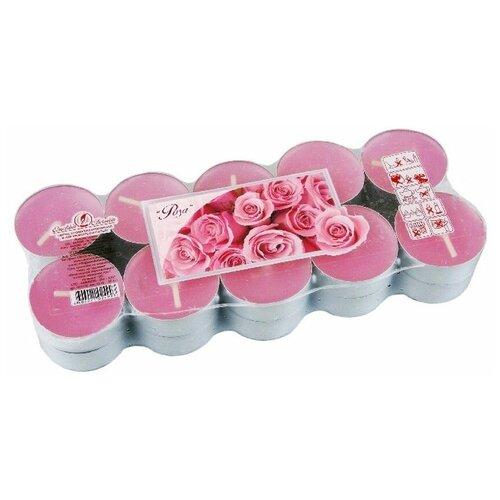Набор ароматических свечей роза, 3.8х1.6 см (упаковка 20 шт.), Омский Свечной 001726-свеча