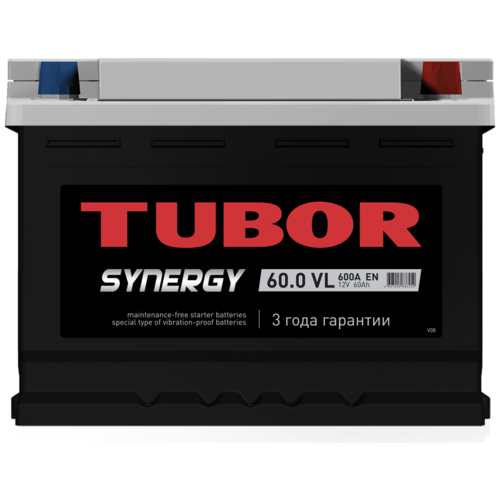 Автомобильный аккумулятор TUBOR SYNERGY 6ст-60.0 VL (низкий)