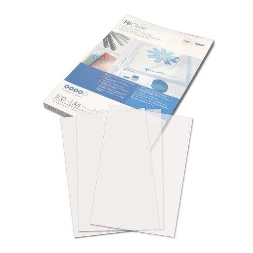 Обложки пластиковые для переплета А4, комплект 100 шт., 150 мкм, прозрачные, GBC (Англия), CE011580E