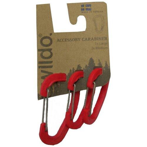 Набор Карабинов Wildo 2019 Accessory Carabiner Set Of Three Для Аксессуаров Wildo Red