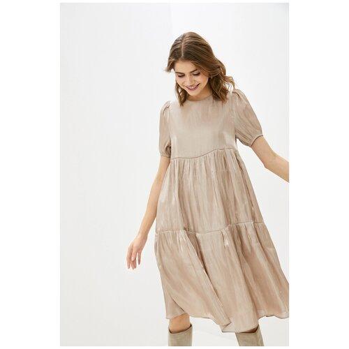 Платье Befree, размер S/44, бежевый (150) платье befree befree be031ewbxib1