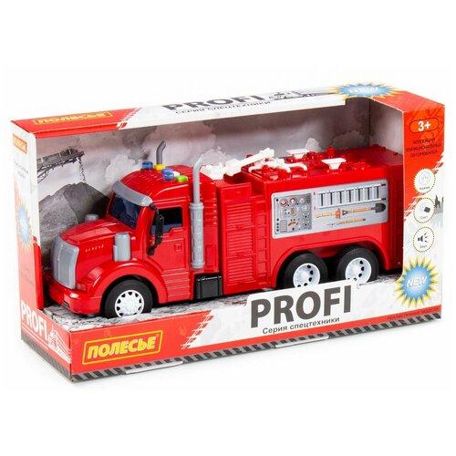 Купить Автомобиль Полесье Профи, пожарный, инерционный, со светом 86518, Машинки и техника