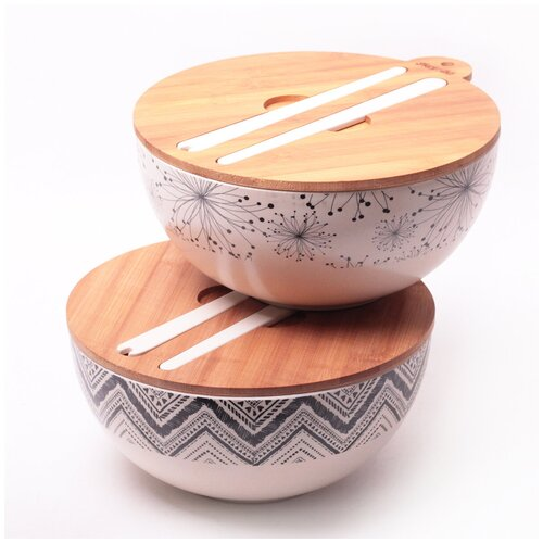 Миска из бамбукового волокна Kamille 27 см с приборами 4384