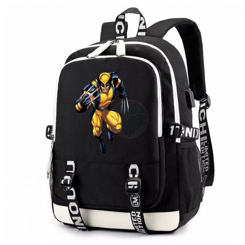 Рюкзак DC черный с USB-портом №3